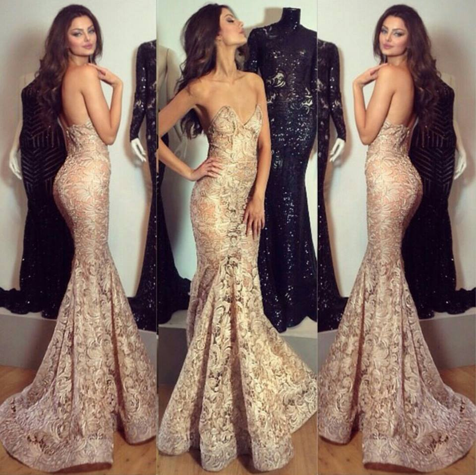 Stylish Sexy 2016 Evening Dress Mermaid With Lace Appliques ...