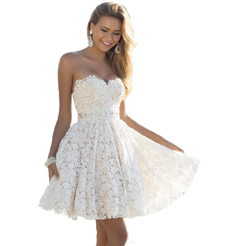 cute white lace homecoming dress short homecoming dresses