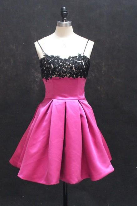 sweet sixteen birthday girl hot pink short homecoming dresses cocktail party dress with pockets 2016 new style cheap graduation dress